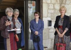 Marjolaine Favreau lors du vernissage à la Maison Jacob.
