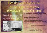 Duo poésie contemporaine et musique classique.