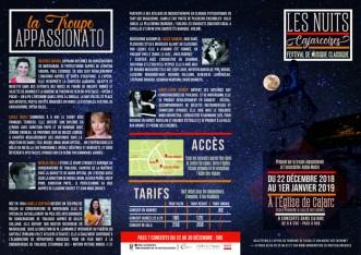 Nuits cajarcoises du 22 décembre au 1er janvier 2019.
